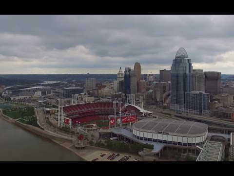 Downtown Cincinnati Ohio (Drone)