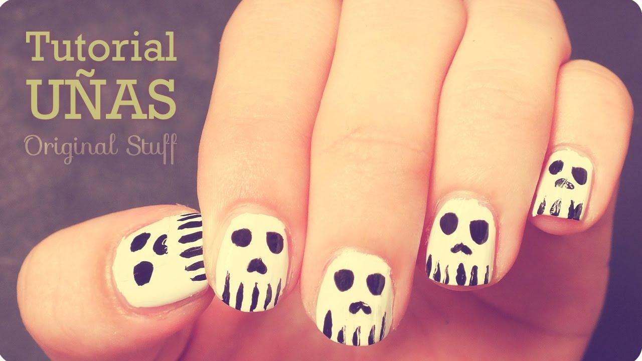 Calaveras [Diseño de uñas] • Halloween - YouTube