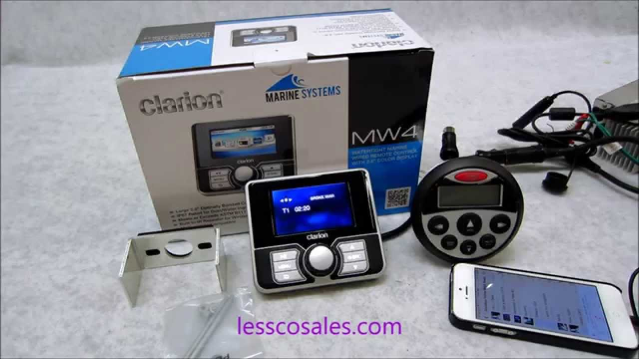maxresdefault clarion mw4 review on their 3 inch color lcd wired remote youtube Clarion Mobile Electronics at bayanpartner.co