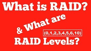 RAID and standard RAID levels(0-6,10) in Operating System