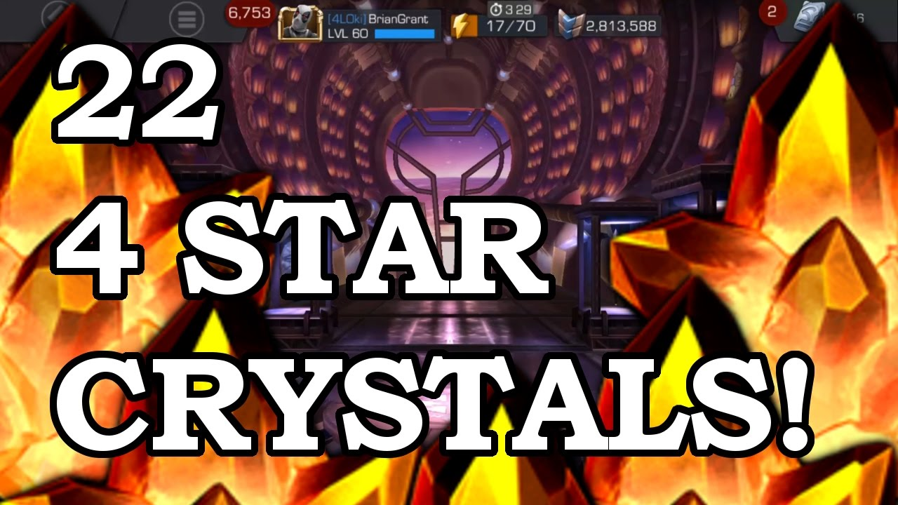 22 FOUR STAR CRYSTALS - BLACK WIDOW OR BUST | Marvel Contest of Champions  Crystal Opening