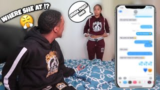MY EX IS ON HER WAY TO PICK ME UP PRANK ON GIRLFRIEND! (SHE GETS HEATED)