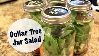 Organized Lunches | Dollar Tree Jar Salad