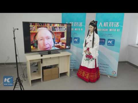 China's interactive robot Jia Jia dialogues with Kevin Kelly