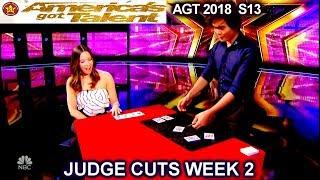 Shin Lim Card Magician FULL PERFORMANCE &COMMENTS America's Got Talent 2018 Judge Cuts 2 AGT