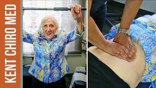80 years old woman can walk WITHOUT A CANE after chiropractic care
