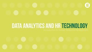 Data analytics and hr technology
