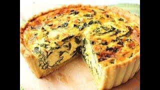 Spinach And Feta Quiche With Sweet Potato Crust Youtube