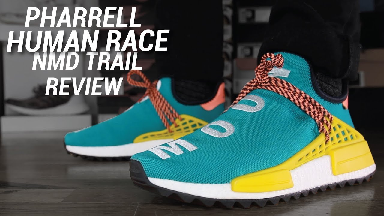 6e6ec6541 ADIDAS PHARRELL HUMAN RACE NMD TRAIL REVIEW - YouTube