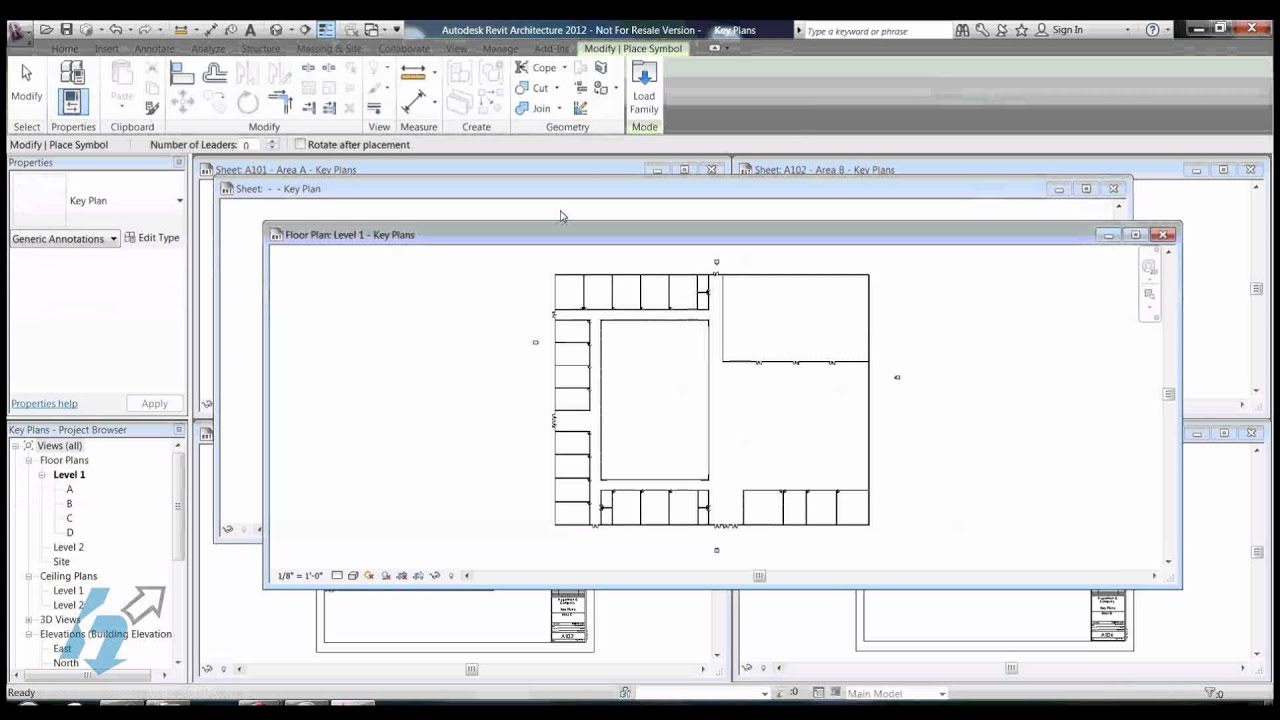 Revit Elevation Key Plan : Key plans in revit youtube