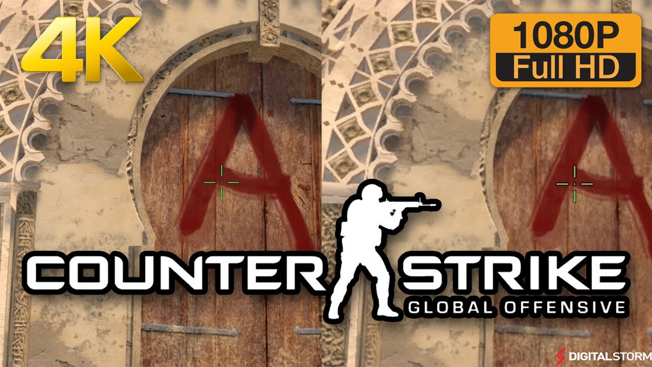 4k vs 1080p graphics comparison counter strike global