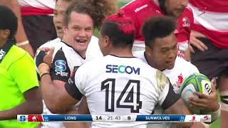 HIGHLIGHTS: 2018 Super Rugby #Week 5: Lions v Sunwolves #LIOvSUN