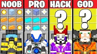 Minecraft Battle: POWERFUL ARMOR CRAFTING CHALLENGE - NOOB vs PRO vs HACKER vs GOD ~ Animation