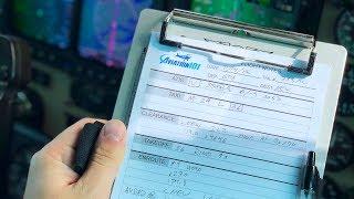 Writing down ATC instructions - Pilot