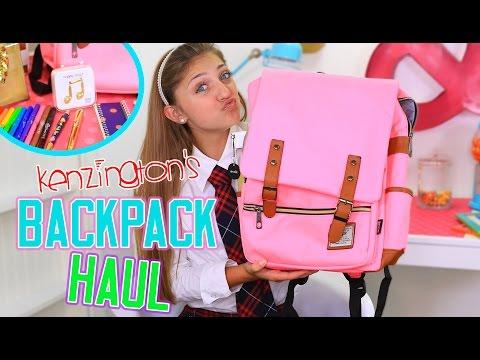 Kenzington's Backpack Haul   Back to School   Kamri Noel