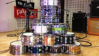 11 snare drums - comparison of Ludwig, Tama, Yamaha, Sonor, SJC, Beverley