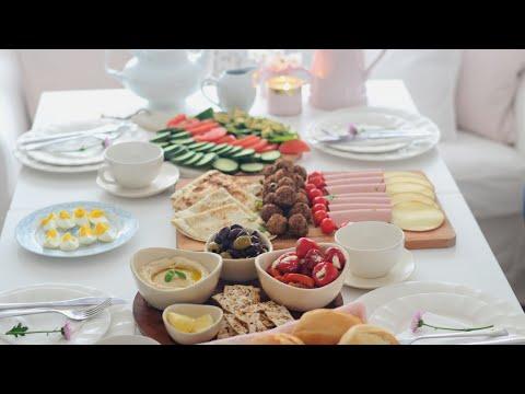 فطور صباحي بأشياء جاهزة بدون تعب Kahvaltı | Breakfast | Brunch
