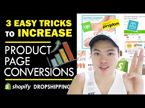 Exponentially increase CONVERSION RATE on your Shopify Store! 2019 Product Page Tips thumbnail