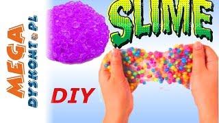 Crunchy Slime DIY • Chrupiący glut z kuleczkami • kreatywne zabawy