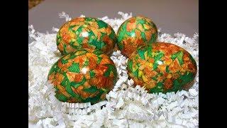 Как Покрасить Яйца на Пасху. Самый Простой Рецепт. МРАМОРНЫЕ ЯЙЦА.