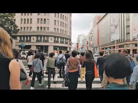 Walk around Tokyo Ginza shopping district - Long Take【東京・銀座】