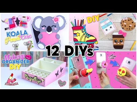 DIY ROOM DECOR & DIY SCHOOL SUPPLIES! 12 CRAFTS IDEAS FOR TEENAGERS