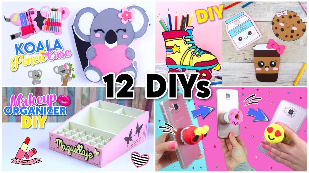 Diy Room Decor Diy School Supplies 12 Crafts Ideas For Teenagers Youtube