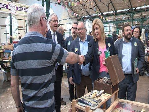 Sinn Féin Senators canvass voters in St. George's market