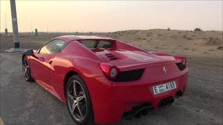 Ferrari 458 Spider Ride in Dubai, U.A.E Full HD!!!