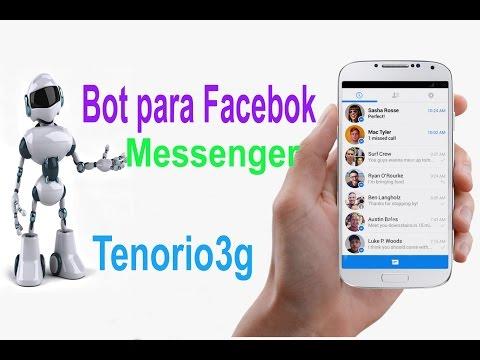 Robot en chat de Facebook video Music