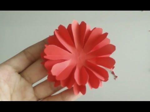 ดอกไม้กระดาษติดบอร์ด#3 (paper flower)