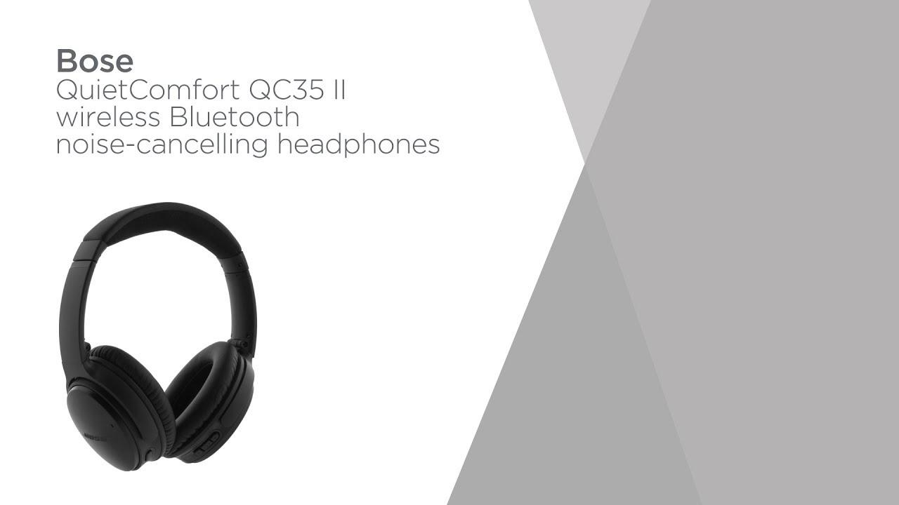 5e591b487fa Bose QuietComfort QC35 II Wireless Bluetooth Headphones - Black | Product  Overview | Currys PC World