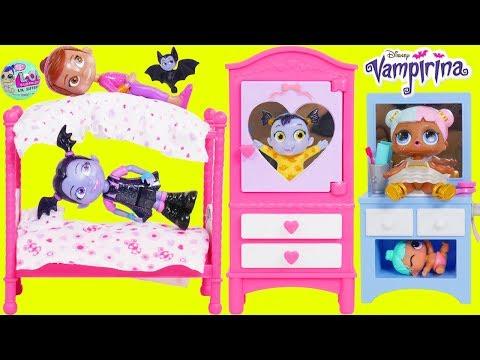Don't Wake Vampirina Morning Bedtime Routine Class Clown Fake Toy Wrong Heads LOL Surprise Dolls!