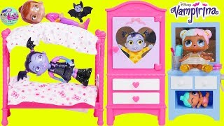 LOL Surprise Dolls Lil Sisters Morning Routine with Vampirina