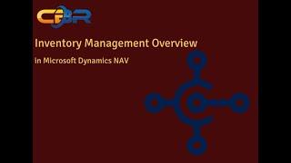 Dynamics NAV 2016 Inventory Management Overview