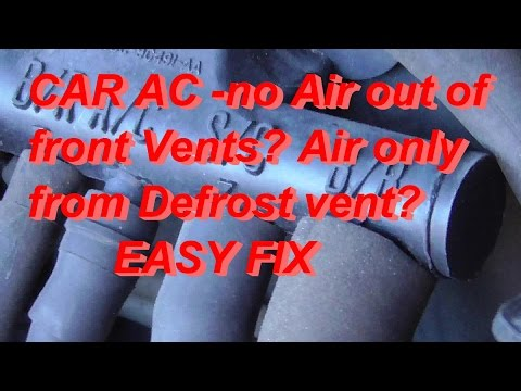 How To Fix A/C Stuck On Defrost Mustang 5.0 NO AC To Front Vents