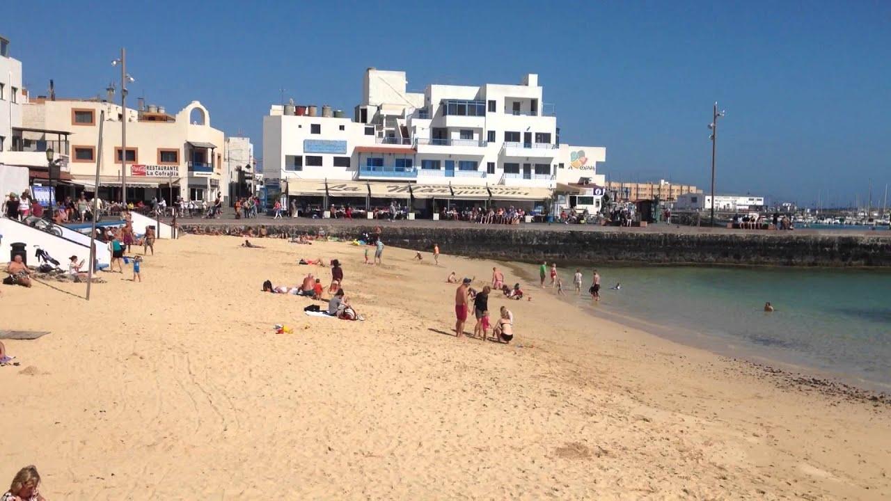 Town beach Corralejo Fuerteventura - YouTube
