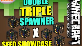 MINECRAFT - PS4 - DOUBLE TRIPLE SPAWNER SEED SHOWCASE - REVIEW  PS3  XBOX  WII