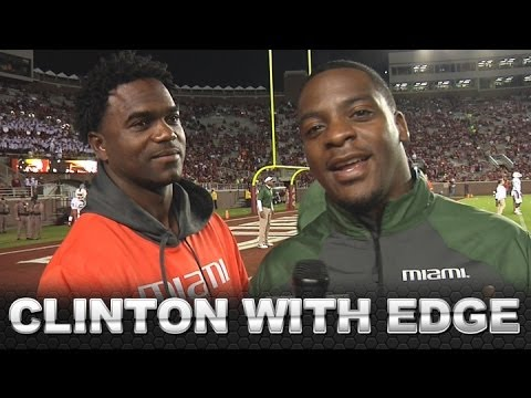 Clinton Portis Interviews Miami Legend Edgerrin James | ACCDigitalNetwork