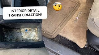 DEEP CLEANING A REALLY DIRTY CAR! COMPLETE DISASTER INTERIOR CAR DETAILING TRANSFORMATION! ASMR