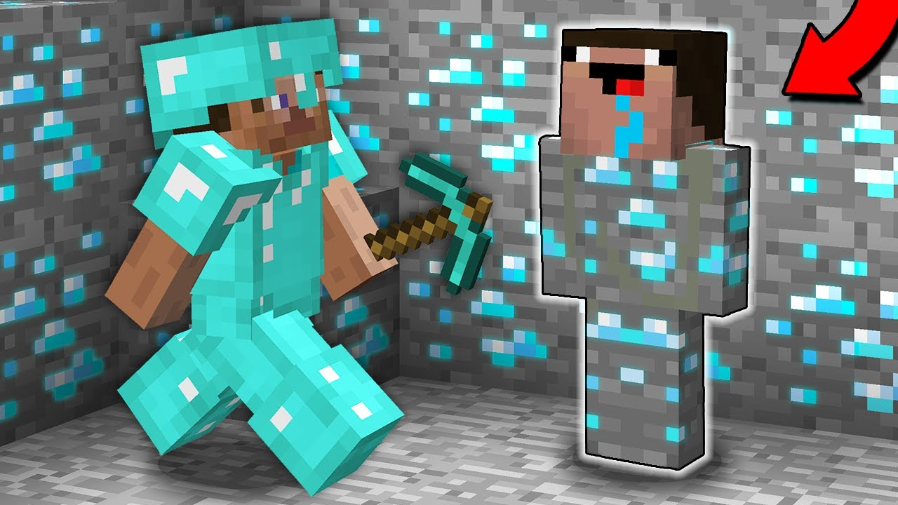 NOOB HID AND TROLLED PRO IN THIS SECRET MINE! Minecraft - NOOB vs PRO