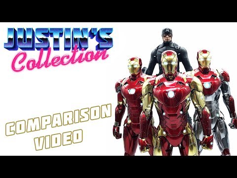 Hot Toys Concept Iron Man MK46 (Mark XLVI) Comparison Video - Marvel Studios the First 10 Years