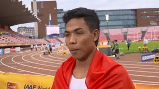 IAAF World Under 20 Tampere - Lalu Muhammed Zohri INA 100 Metres Gold