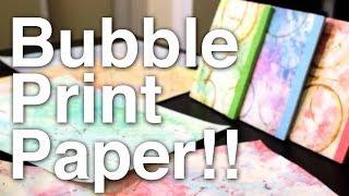 Bubble Print Paper!!