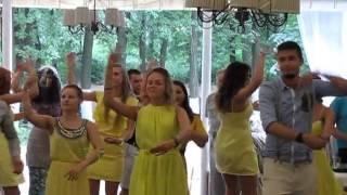 желтый флешмоб - гости зажигают! свадьба в Рязани