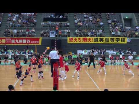 1日 女子バレーボール セキスイハイムスーパーアリーナ 東九州龍谷×誠英 決勝 5