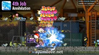 Ayumilove MapleStory Striker Thunder Breaker 1st 2nd 3rd 4th Job Skills Preview Revamp 2013