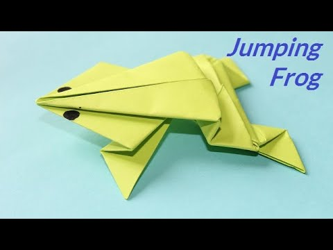 DIY - Origami jumping frog: How to make a paper frog that jumps high and far