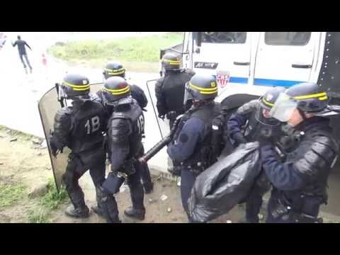 Heurts en marge de la manifestation interdite. Calais/France - 1er Octobre 2016