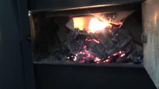 ETA Holzvergaser - Anheizen und Flammenbild